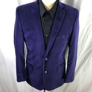 Madison Mens Purple 40R Luxe Velvet Blazer NWT